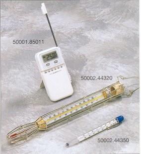 Cukorhőmérő, fém védőráccsal