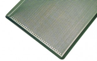 Perforated oven sheet, blue steel