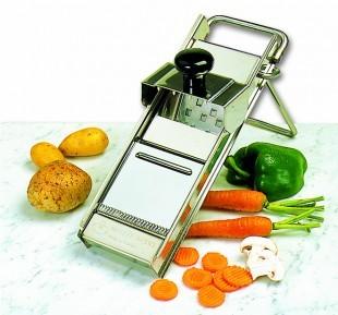 Mandolin, rozsdamentes zöldségaprító, 4 késsel