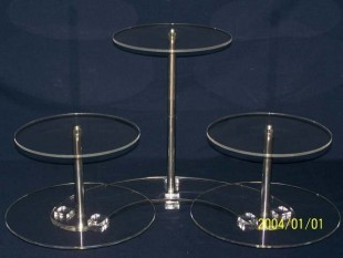 Cake stand, 5 levels, pushed off type