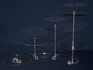 Cake stand, 5 levels, flated