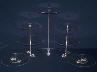 Cake stand, 7 levels, flated