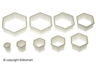 Cutter set, hexagon, 9 pce