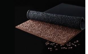 Black silicone mould coffee mat (60x40 cm)
