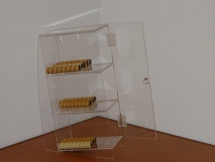 Roletti tartó plexi, 3 emeletes