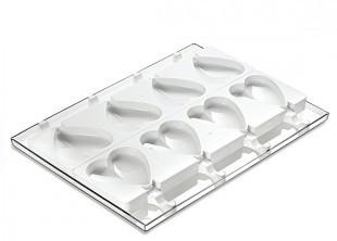 Szilikonos jégkrém/fagyi készítő forma. SZÍV /GEL03/
