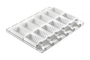 Szilikonos jégkrém/fagyi készítő forma. Bordás /GEL 04/