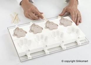 Szilikonos jégkrém/fagyi készítő forma. Mancs /GEL06/