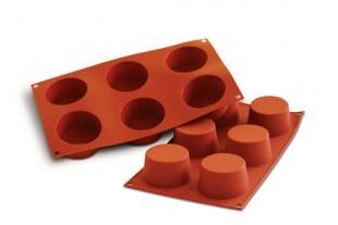 Szilikon forma, piros, közepes muffin