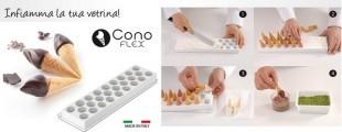Szilikonos fagylalt/desszert készítő / CONO FLEX FIAMMA /