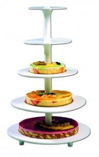 Tortaállvány műanyag 5 szintes