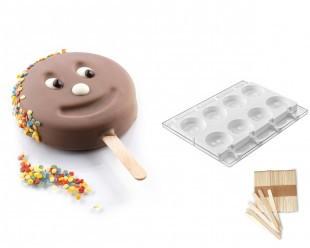 Szilikonos jégkrém/fagyi készítő forma. Mr Funny /GEL07/
