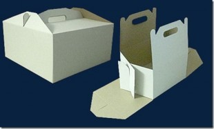Cardboard box for cake