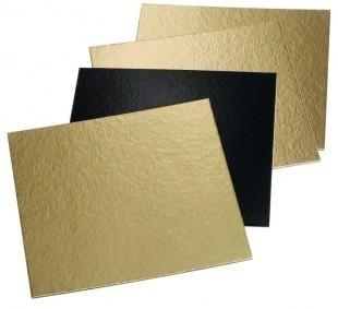 Desszert alátét, arany/fekete, négyzet, fül nélkül